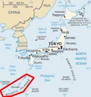 China's Druckmittel - die Ryukyu-Inseln, deren größte Okinawa ist.