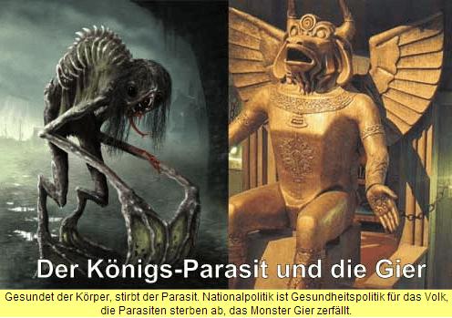 Auch der Königs-Parasit stirbt, wenn der Körper gesundet