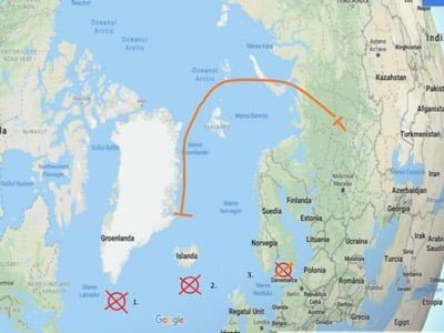 Russland kann alle US-Flugzeugträger östlich von Grönland versenken