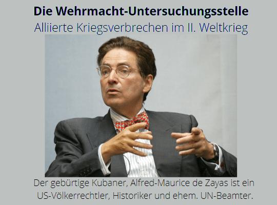 Alfred De Zayas - Die Wehrmachtuntersuchungsstelle und andere Klarstellungen